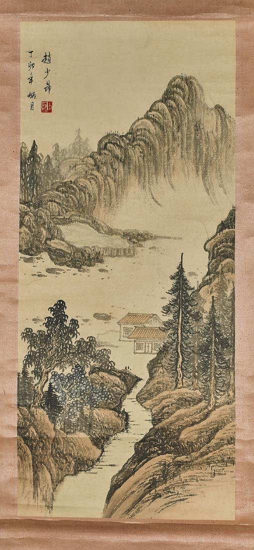 Two Chinese Landscape Scrolls - 3