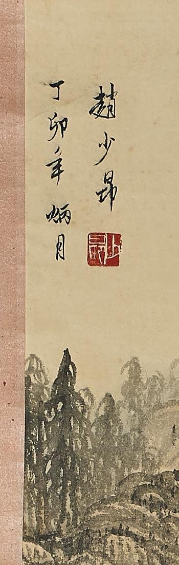 Two Chinese Landscape Scrolls - 4
