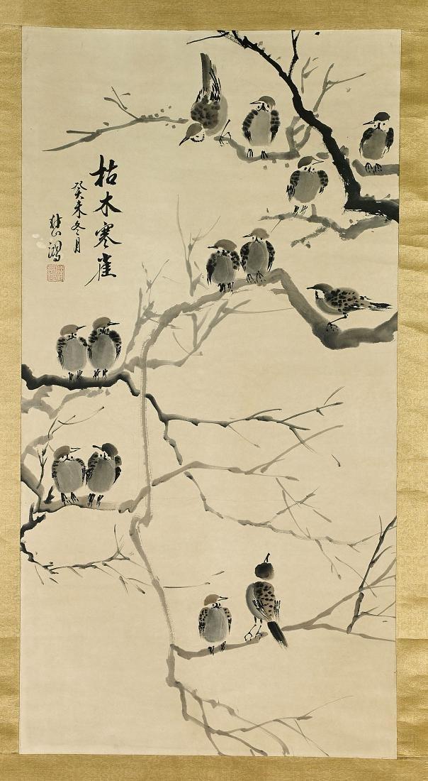 Chinese Scroll After Xu Beihong