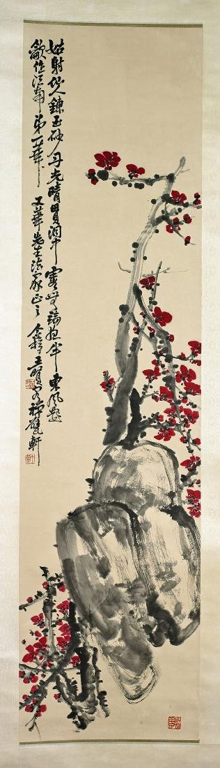 Two Chinese Scrolls After Wang Geyi & Liu Haishu - 3