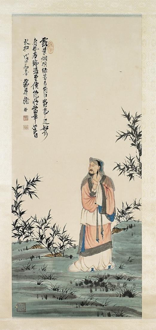 Two Chinese Scrolls After Xie Zhiliu & Pu Ru