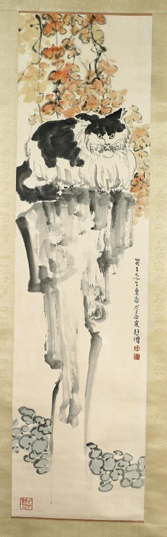 Two Chinese Scrolls After Xu Beihong & Hu Yefo