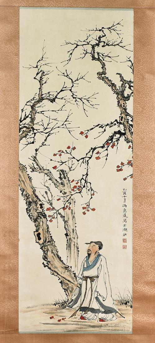 Two Chinese Scrolls After Feng Zhonglian & Qi Baishi