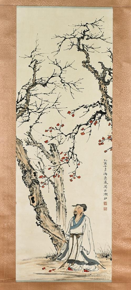 Two Chinese Scrolls After Feng Zhonglian & Qi Baishi