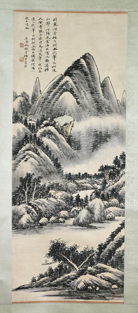 Two Chinese Scrolls After Wu Hufan & Qian Songyan