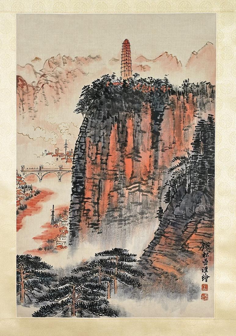 Two Chinese Scrolls After Wu Hufan & Qian Songyan - 3
