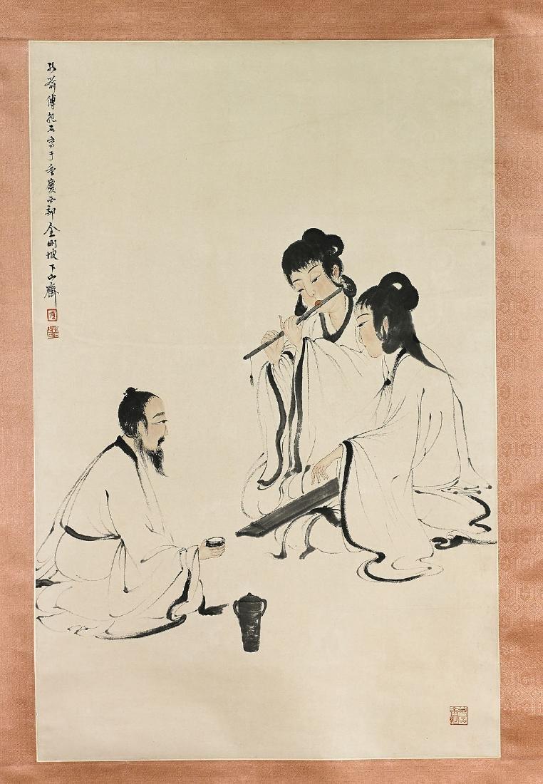 Two Chinese Scrolls After Fu Baoshi & Pu Ru