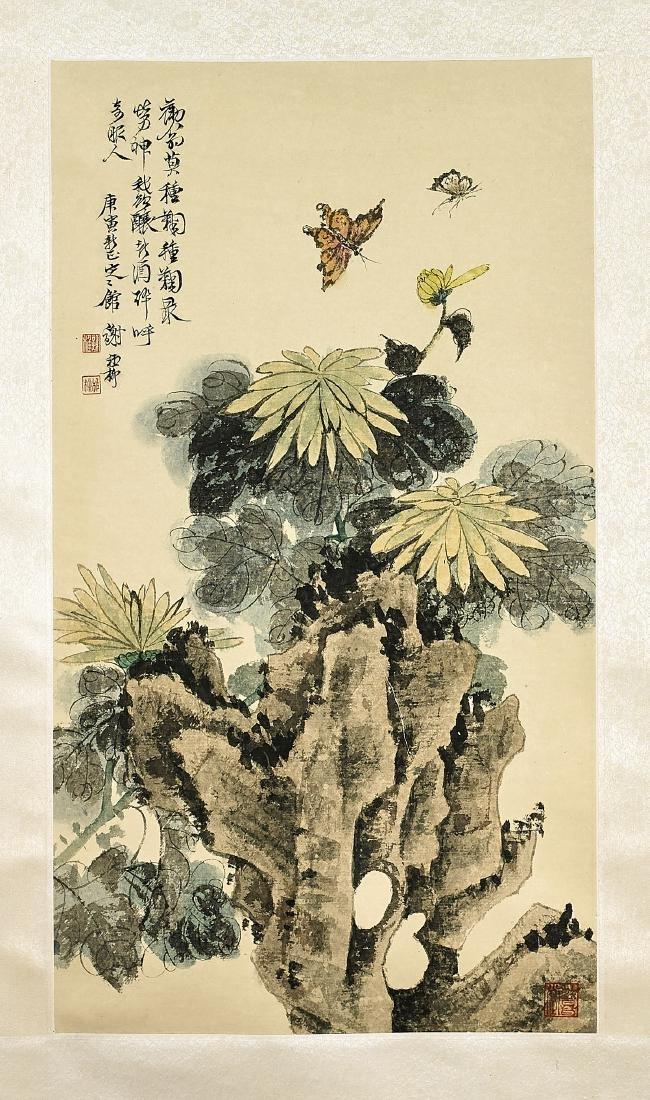 Two Chinese Scrolls After Zhang Daqian & Xie Zhiliu - 3