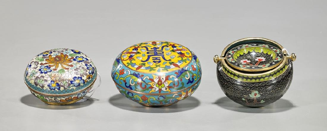 Three Chinese Cloisonne Enamel Pieces