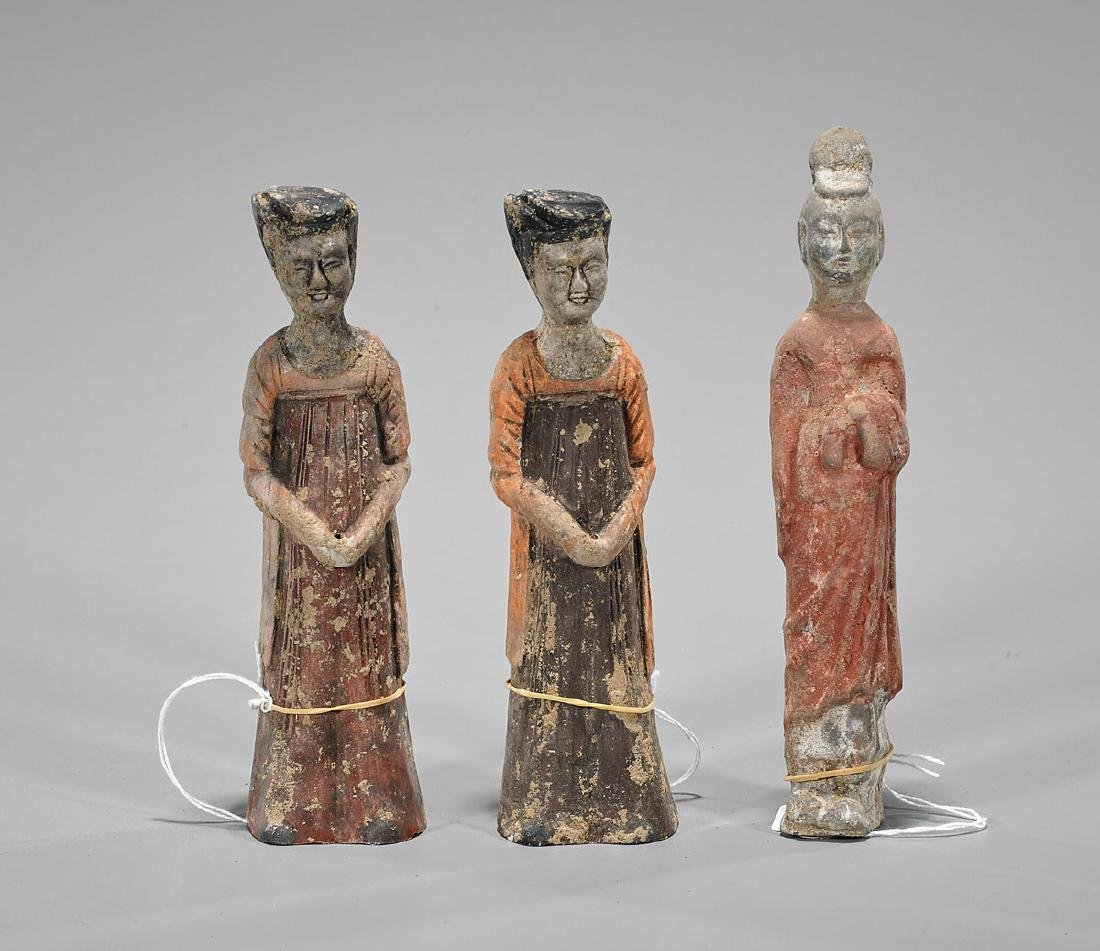 Group of Three Small Chinese Tang-Style Figures