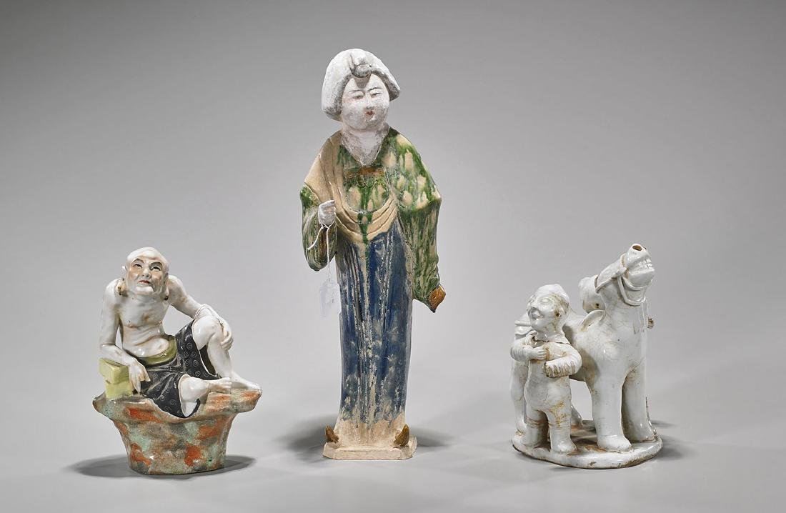 Group of Three Chinese Ceramics