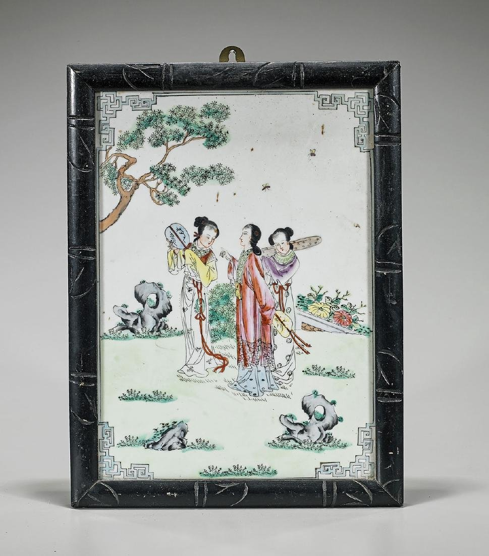 Old Chinese Enameled Porcelain Plaque