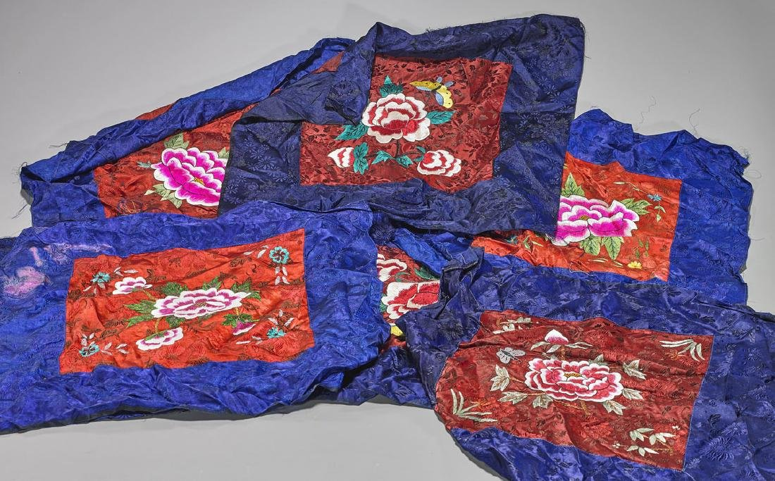 Group of Seven Chinese Silk Embroideries