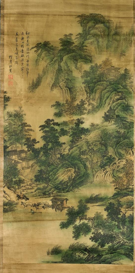 Group of Nine Chinese Scrolls