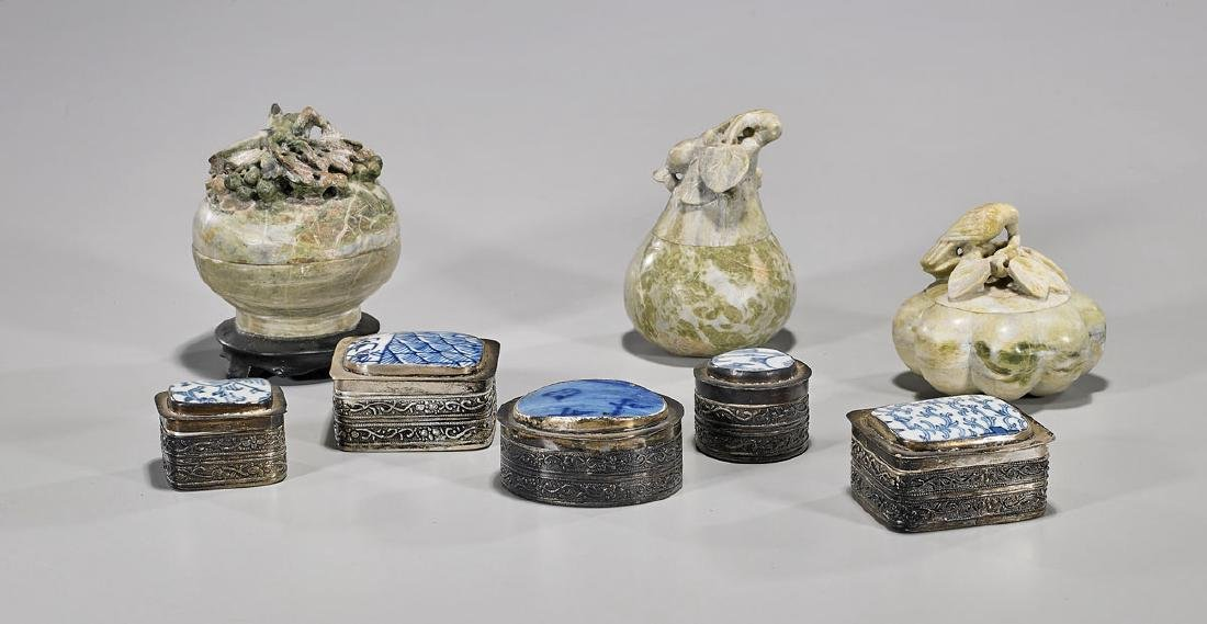 Group of Eight Various Chinese Covered Vessels