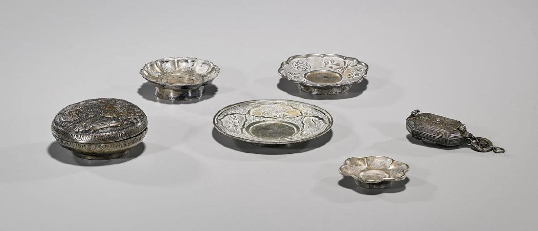 Group of Six Antique Chinese & Indian Metalwork Pieces