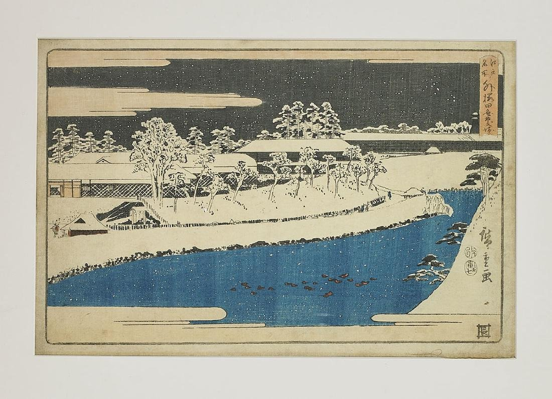 Six Antique Japanese Woodblock Prints By Hiroshige - 2