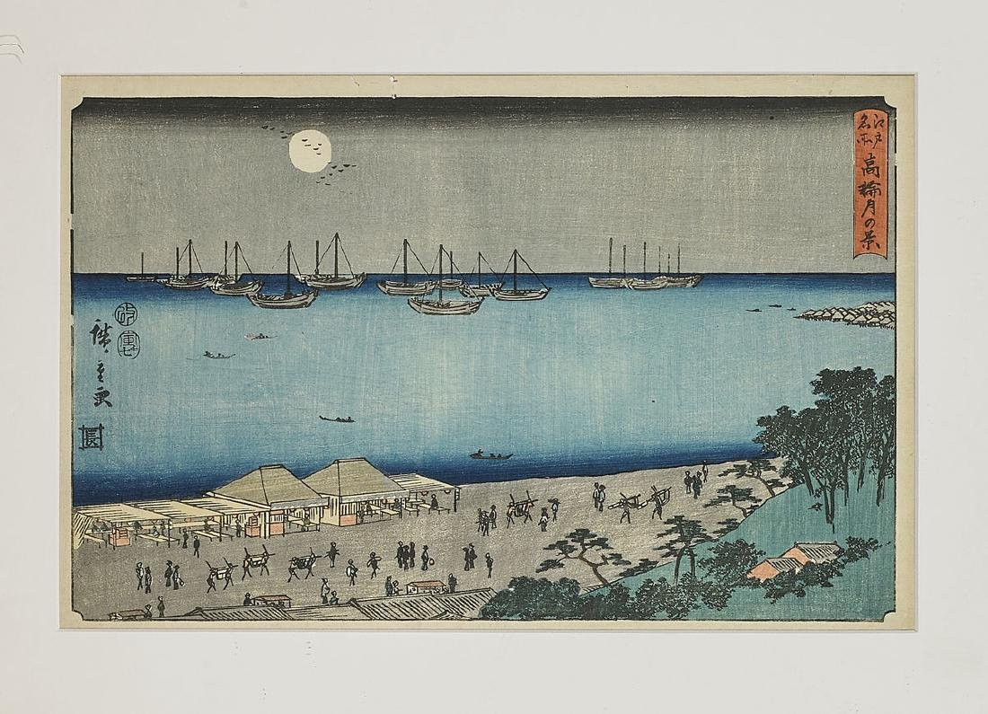 Six Antique Japanese Woodblock Prints By Hiroshige - 3