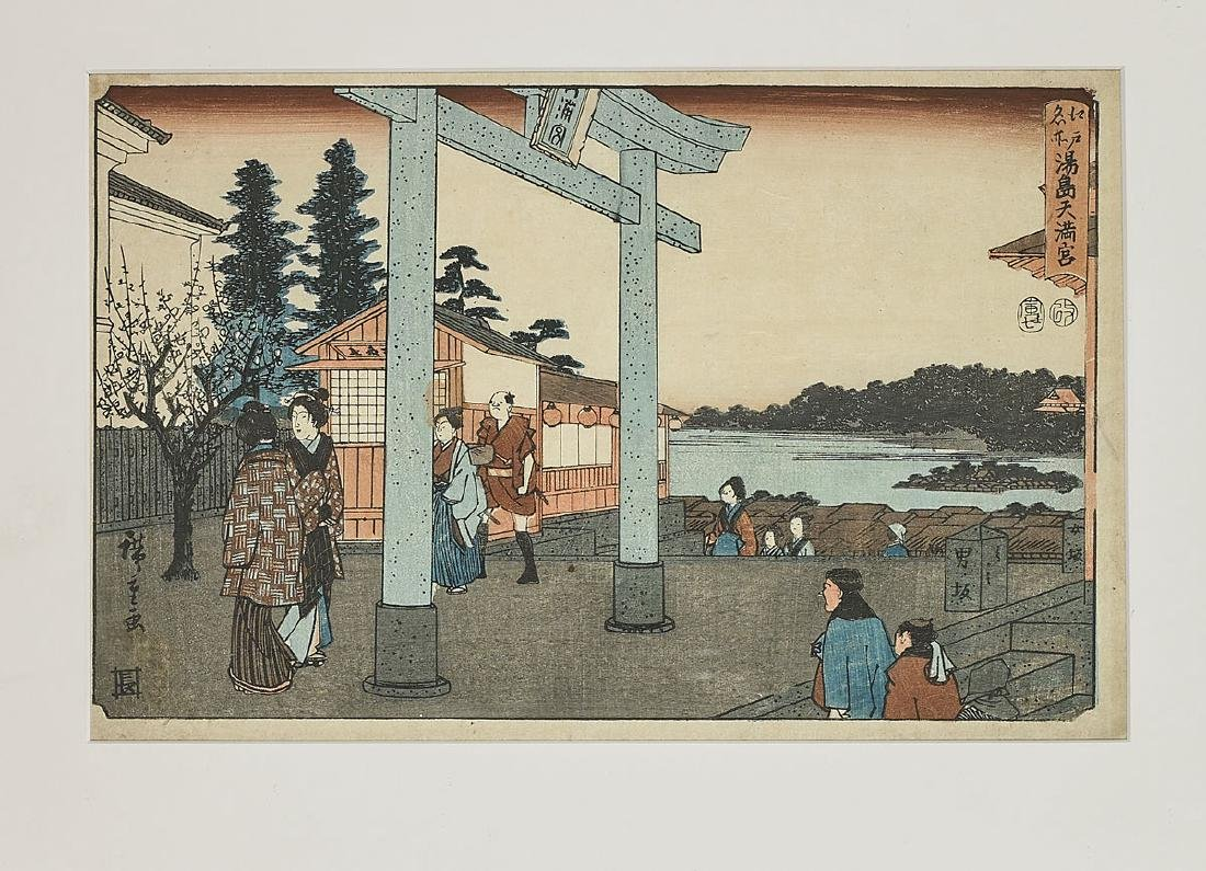 Six Antique Japanese Woodblock Prints By Hiroshige - 4