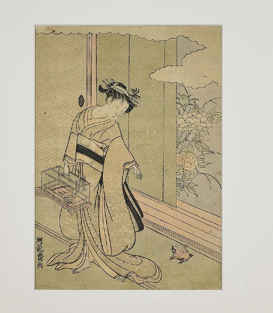 Group of Six Antique Japanese Woodblock Prints - 4