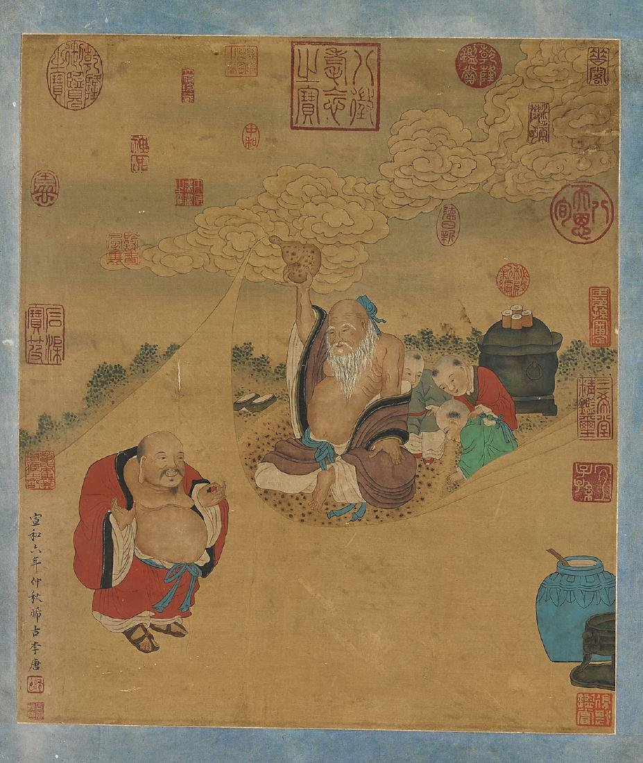Two Chinese Paintings After Li Tang & Zhou Fang