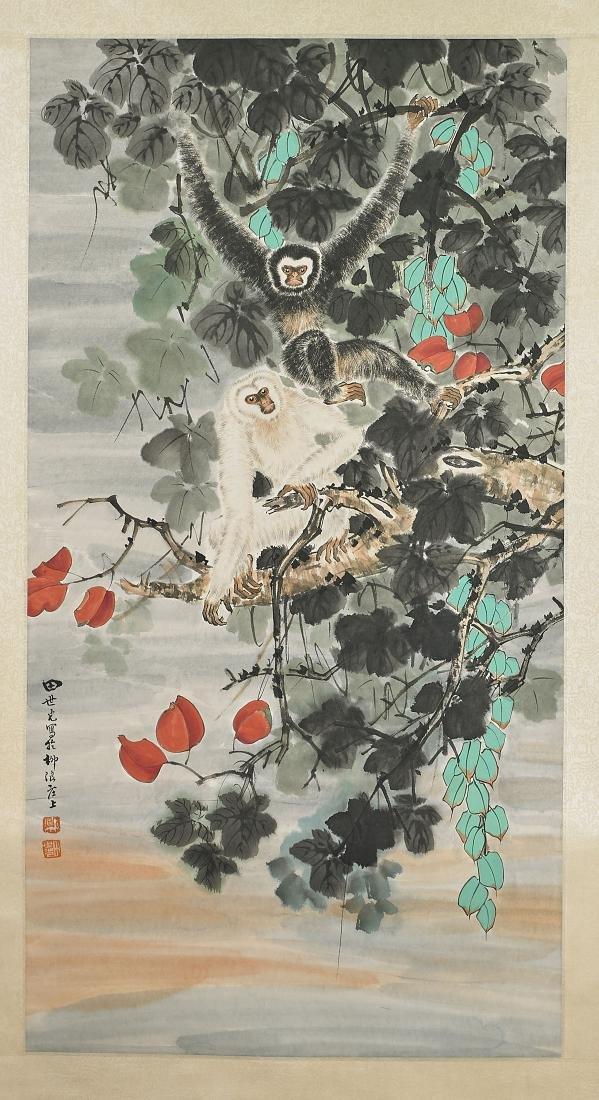 Two Chinese Scrolls After Xu Beihong & Tian Shiguang - 3