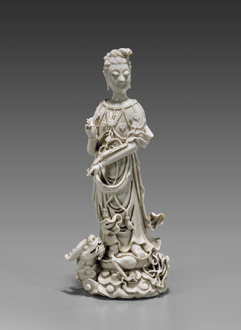 Antique Blanc De Chine Guanyin