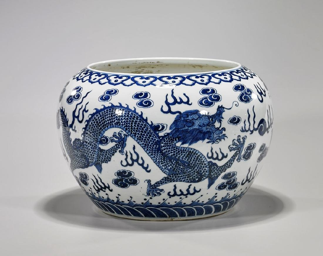 Ming-Style Blue & White Porcelain 'Dragon' Vessel