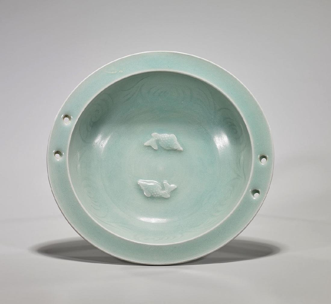 Song-Style Celadon Glazed Porcelain Marriage Dish