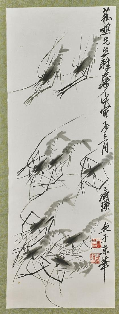 Two Paintings After Qi Baishi