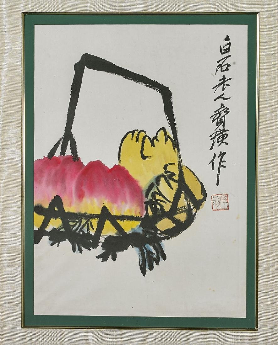 Two Chinese Paintings After Qi Baishi