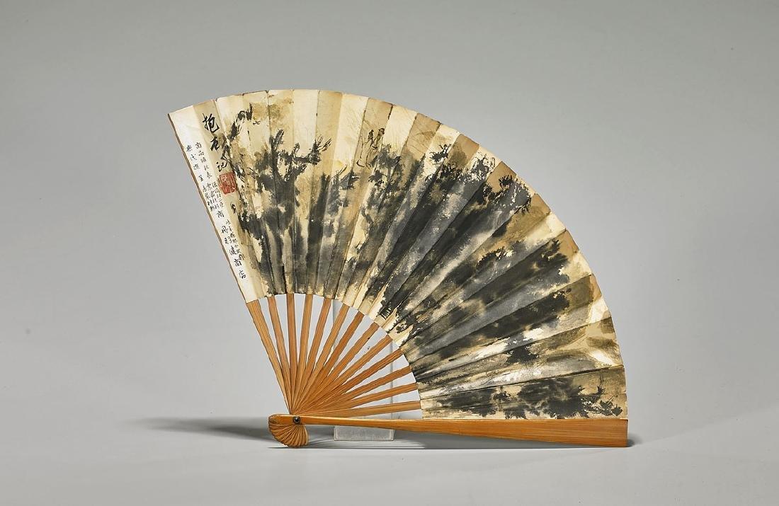 Chinese Fan Painting After Fu Baoshi