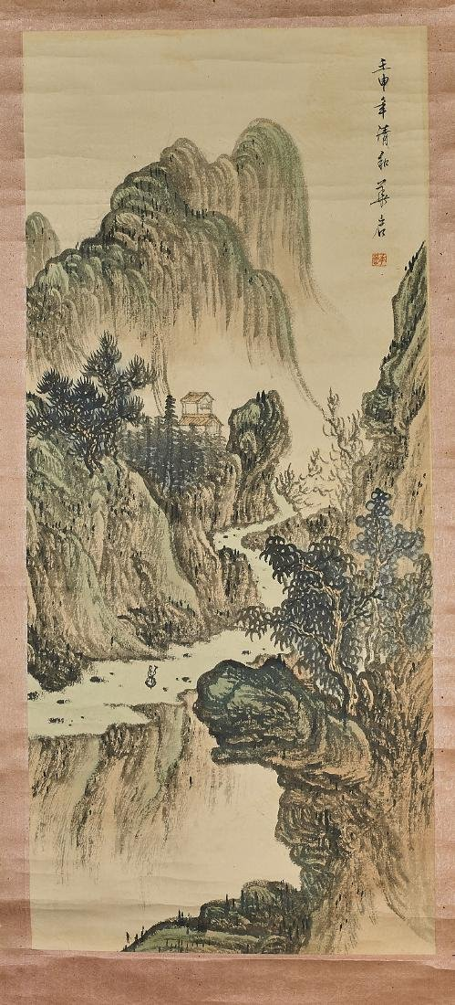 Three Chinese Landscape Scrolls - 5