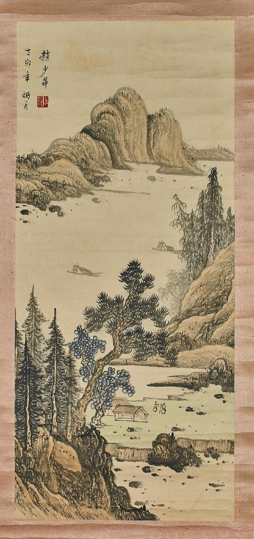 Three Chinese Landscape Scrolls