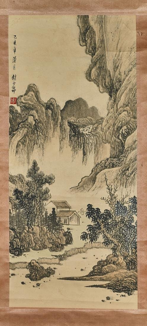 Three Chinese Landscape Scrolls - 3