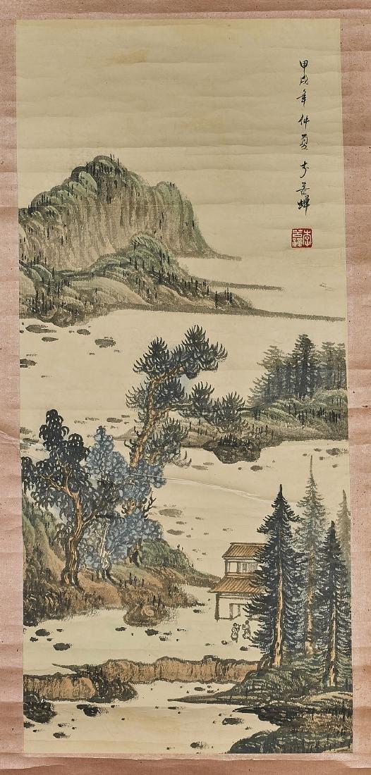 Three Chinese Landscape Scrolls - 5