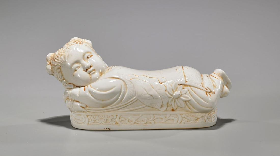 Song-Style Ding-Type Porcelain 'Boy' Pillow
