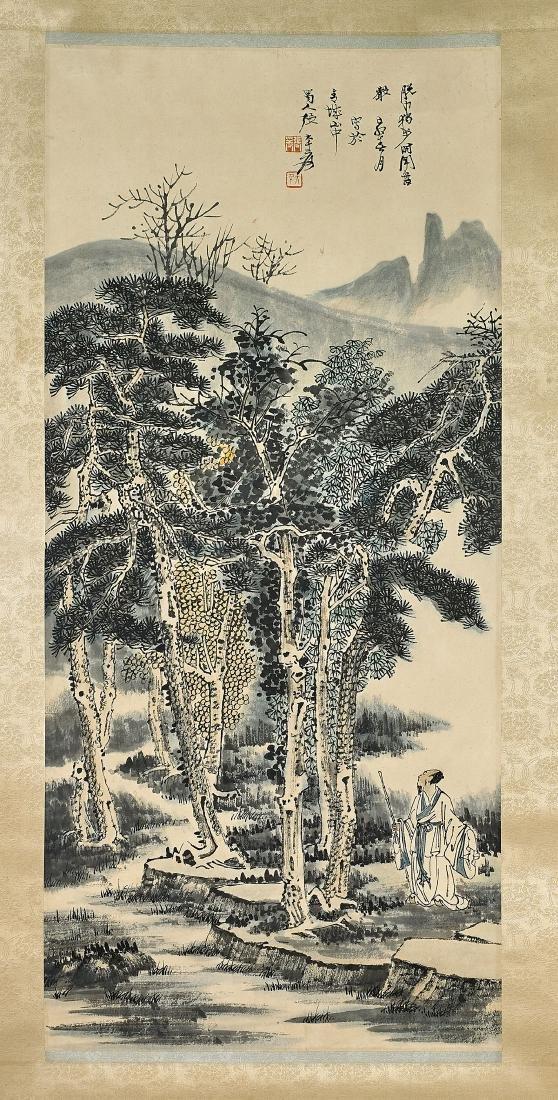 Two Chinese Scrolls After Zhang Daqian & Hu Yefo