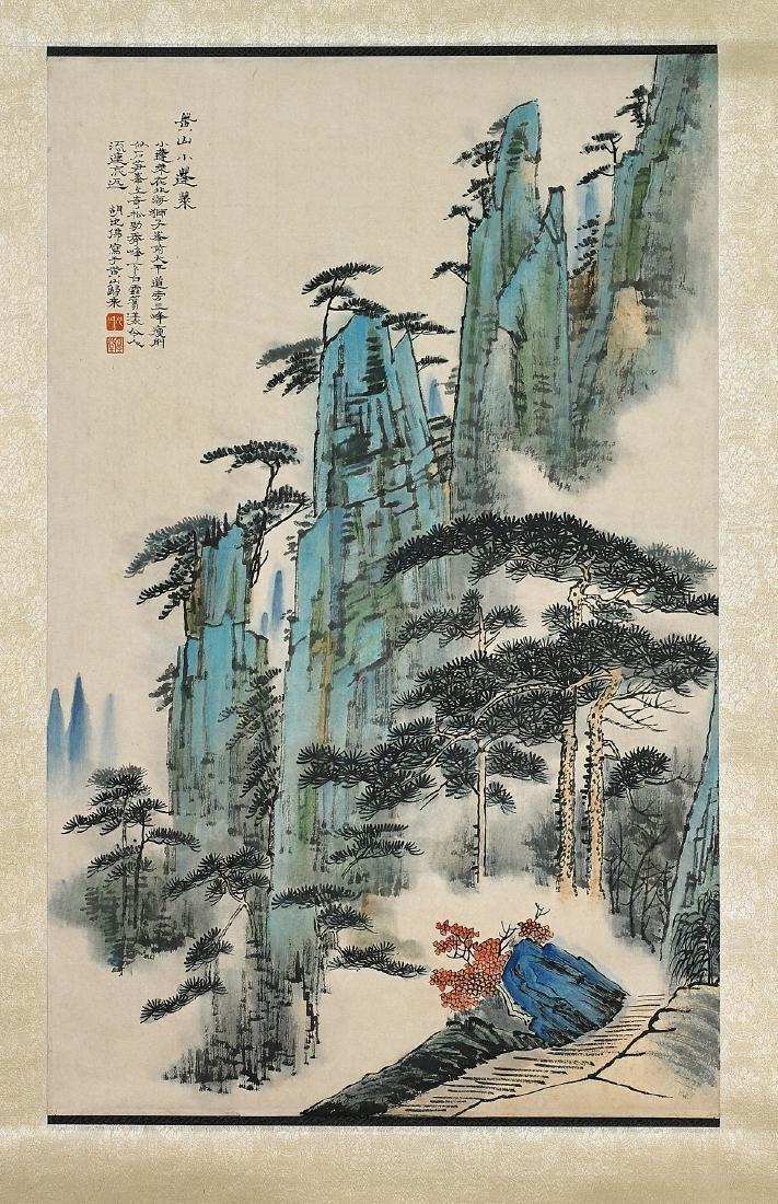 Two Chinese Scrolls After Zhang Daqian & Hu Yefo - 3