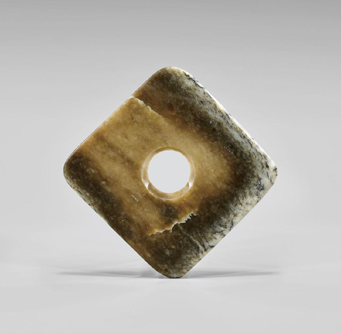 NEOLITHIC JADE SQUARE DISC