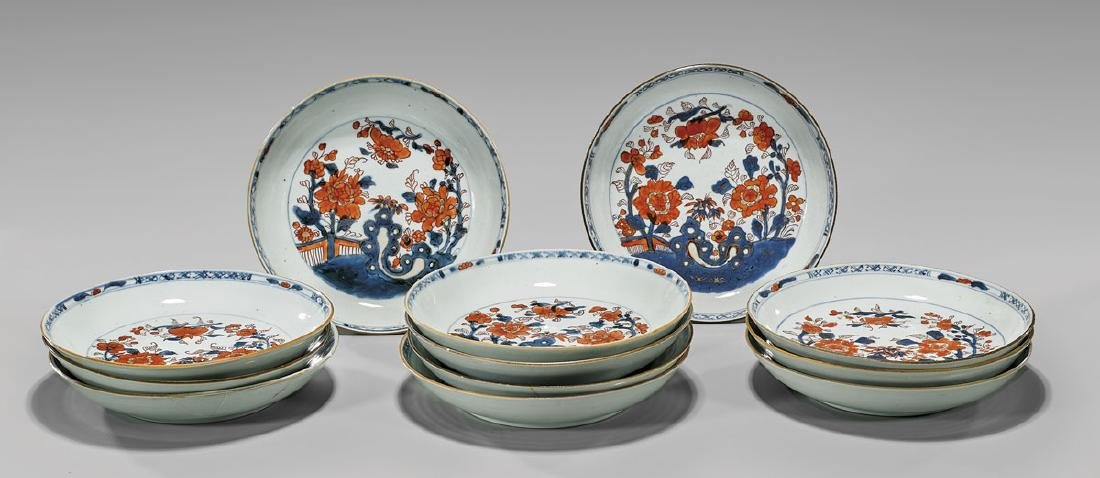 SET OF TWELVE CHINESE EXPORT PORCELAIN DISHES