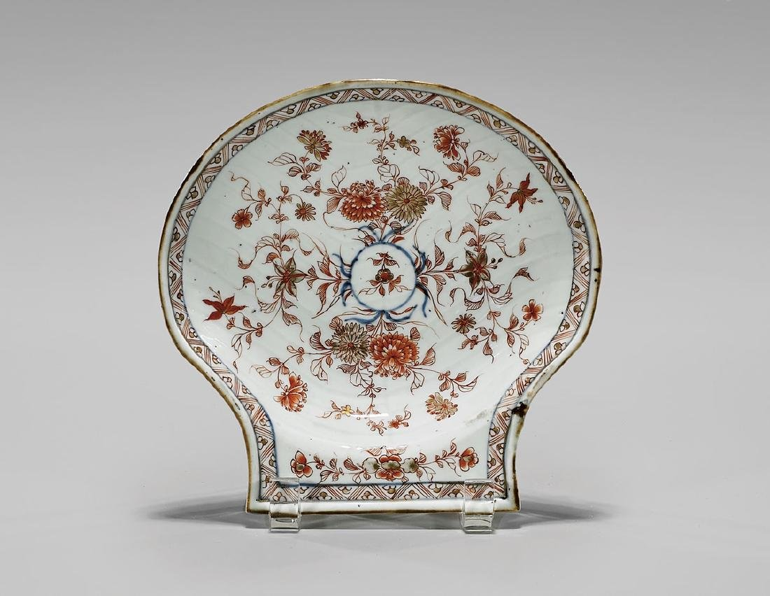 ANTIQUE CHINESE EXPORT PORCELAIN 'SHELL' DISH