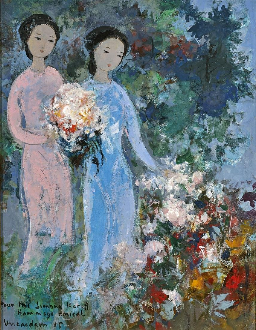 OIL PAINTING BY VU CAO DAM: Two Women