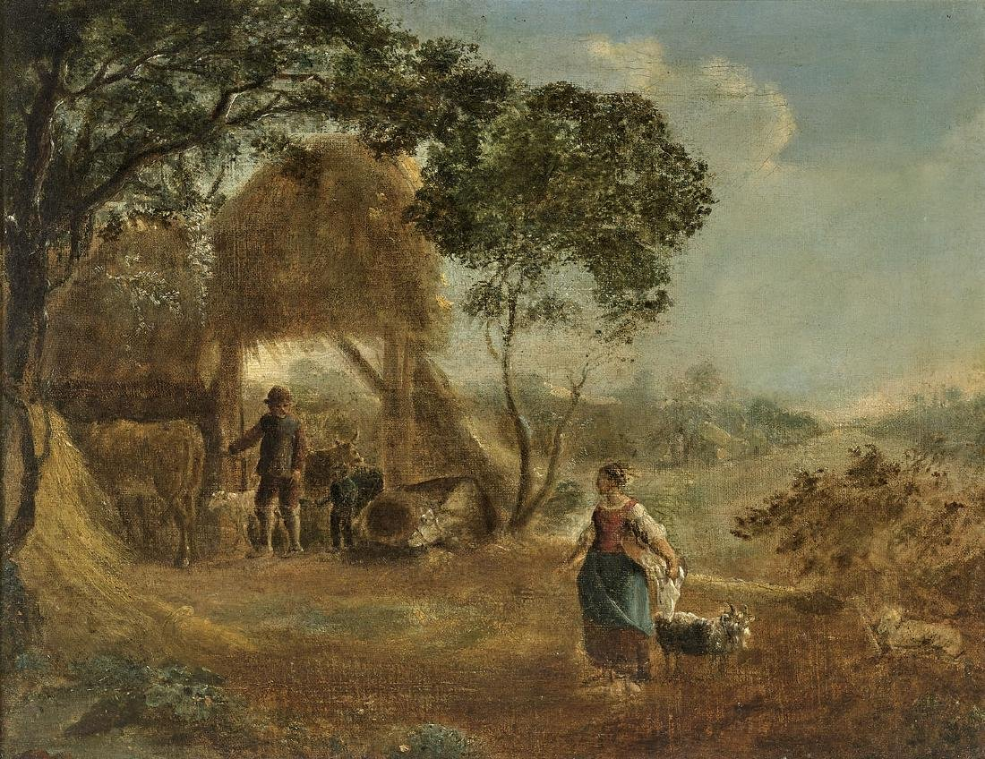 ANTIQUE PAINTING AFTER DAVID TENIERS THE YOUNGER