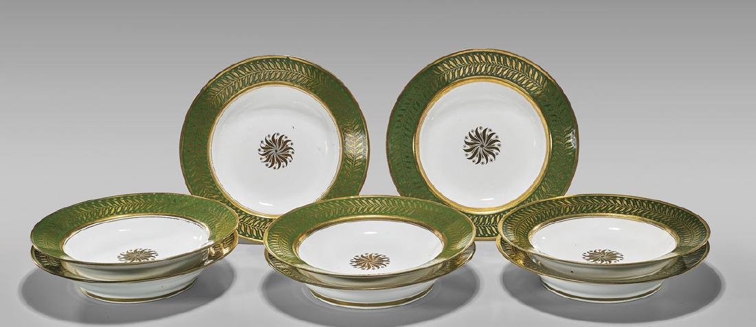 SET OF ANTIQUE SEVRES PORCELAIN DISHES