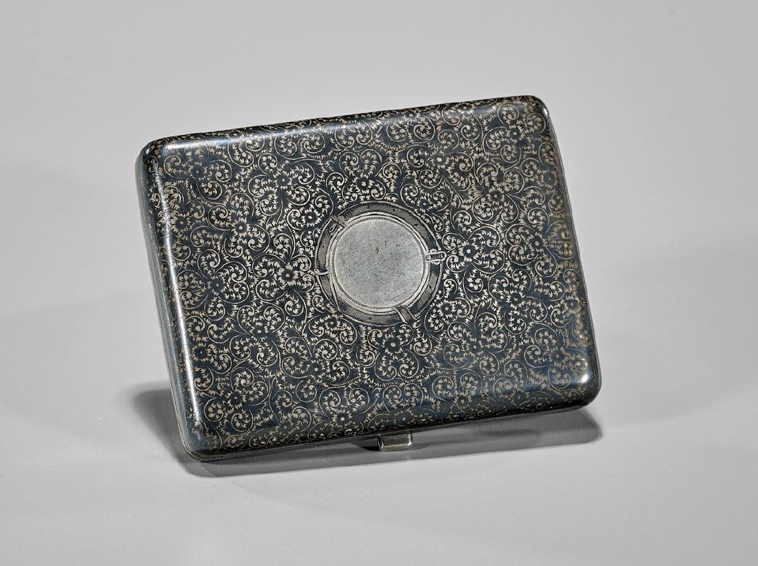 ANTIQUE RUSSIAN SILVER & NIELLO CIGARETTE CASE
