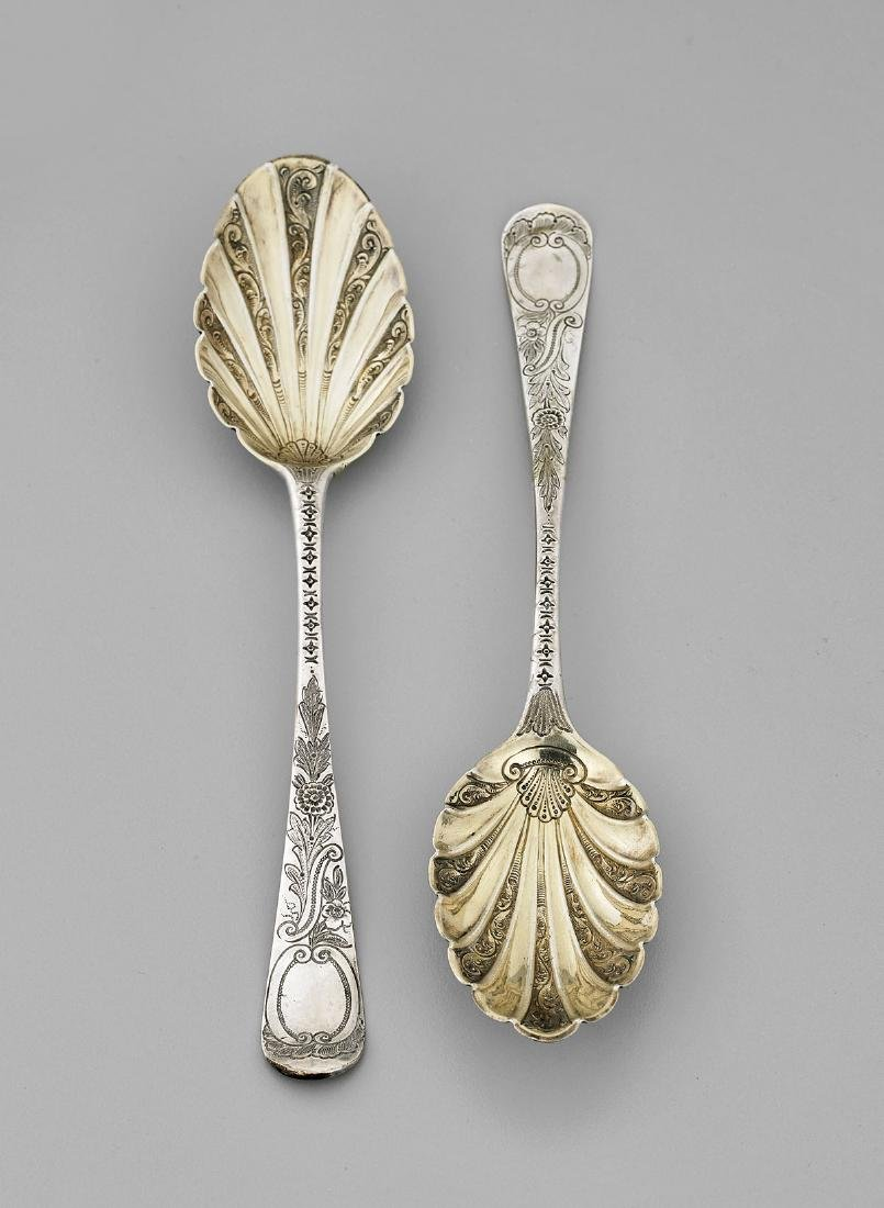 TWO ANTIQUE ENGLISH STERLING SPOONS