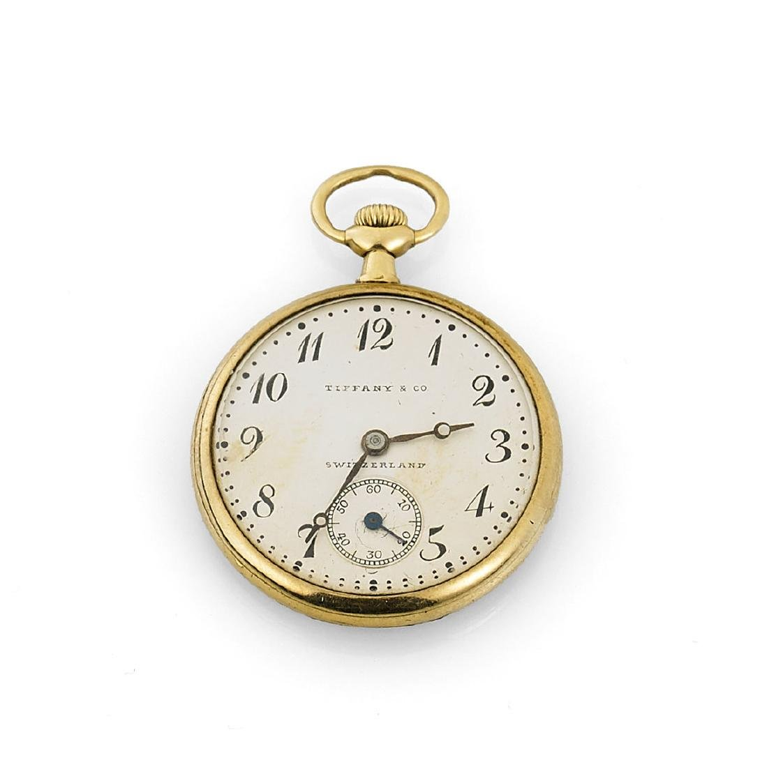 18K GOLD POCKET WATCH BY LONGINES FOR TIFFANY & CO.