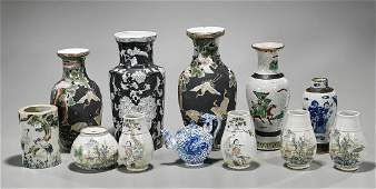 Group of Various Old  Antique Chinese Porcelains
