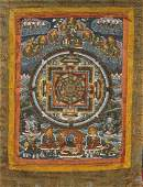 Old Sino-Tibetan Painted Thangka